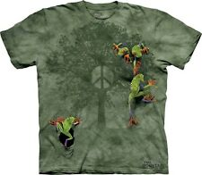Peace Tree Frog T-Shirt by The Mountain. Hippie Retro  Amphibian Sizes S-5XL NEW