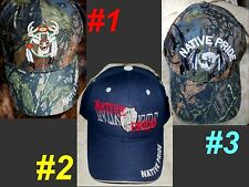 NATIVE PRIDE Deer Buffalo Navy Camouflage Unisex Men Women Rodeo Baseball Cap