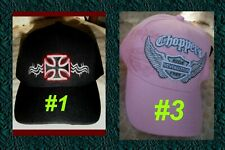 Baseball Cap Religious Pink Chopper Ride Free Cross Wing Biker Motorcycle Heaven