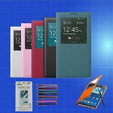 Smart FLIP LEATHER Case Cover S-VIEW Window for SAMSUNG GALAXY NOTE 3 III N9000