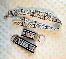 1st Grade ROCKS key chain/ key fob lanyard *CHELLE* Makes a great gift!