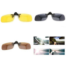 Night Vision Polarized UV 400 Lenses Clip-on Flip-up Sunglasses 3 Color  X