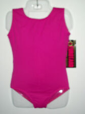 NEW WITH TAGS DANCE GYMNASTIC EUROTARD MICROFIBER TANK LEOTARD FUCHSIA GIRLS