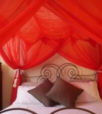 OctoRose 4 post functional bed canopy mosquito net fit all size bed many color