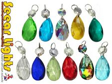 * 5 CHAINS CHANDELIER DROPLETS OVAL CRYSTALS ALMOND PRISM PENDALOGUE DROPS BEADS