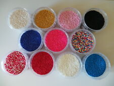EDIBLE NON PAREILS - CHOICE OF COLOURS - sugar sprinkles 100's & 1000's
