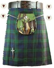 New BlackWatch MENS KILT 5 Yard 10oz Scottish Highland Formal & Everyday 30-48
