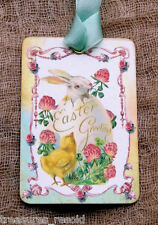 Hang Tags  EASTER GREETINGS BUNNY CHICK TAGS or MAGNET #265  Gift Tags