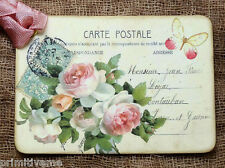 Hang Tags  FRENCH ROSE POSTCARD TAGS or MAGNET #370  Gift Tags