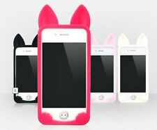 New Deluxe Soft Silicone Cute Ko Ko Cat Skins Cases Covers For iPhone5 5S KK5W