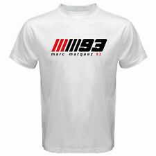 New MARC MARQUEZ MM 93 Logo Moto GP Rider Men's Tee White T-Shirt Size S to 3XL