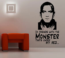 Eminem I'm Friends With The Monster Wall Art Sticker Quote Vinyl Mural WA564