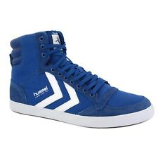 Hummel Stadil Slim High Unisex Trainers Royal Blue White New Shoes All Sizes
