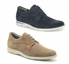 MENS CLARKS EXTRALIGHT SUEDE CASUAL LACE UP SHOES DENNER MOTION WOLF, NAVY FIT G
