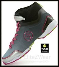 ZUMBA HIGH TOP SHOES TRAINERS--Z SlideDance ANYSurface 6,7,7.5,8,8.5 ZU1035-BLV