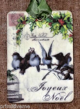 Hang Tags  FRENCH PARIS NOEL CHRISTMAS BIRD TAGS or MAGNET #124  Gift Tags