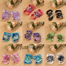 Fashion Cute Baby Infant Blooms Flowers Barefoot Socks Sandals Shoes Toe Foot