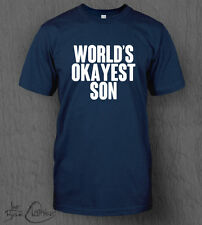 World's Okayest Son T-Shirt MEN'S Funny, Novelty, Birthday gift idea