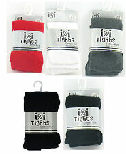 GIRLS i2i COTTON RICH PLAIN TIGHTS WITH ELASTANE AGE- 2-3, 3-4, 5-6, 7-8, 9-10