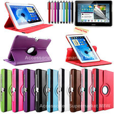 360 Rotating Leather Case Cover Film For Samsung Galaxy Note 10.1 GT-N8000 N8010