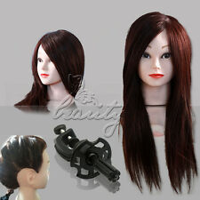 50%,85%,90%,100% Human Hair Cosmetology Mannequin Manikin Training Head + Comb