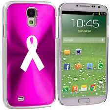 For Samsung Galaxy S3 S4 S5 Hot Pink Hard Case Cover Cancer Awareness Ribbon