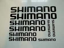 9 x Shimano Fishing Vinyl Decal Stickers Box Rod Pole Seat Fish Angler