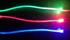 GLOW IN THE DARK light-up LED USB Data Sync Charge Cable charger iphone 5 ipod 7