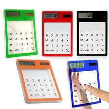 New Solar Touch Screen LCD 8 Digit Electronic Transparent Calculator TMPG