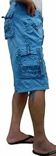 BNWT: MEN'S CASUAL MILITARY CARGO SHORTS SOLID COLOR SIZE: 30-54 #12211S