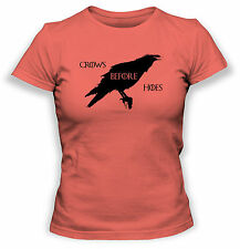 Game Thrones Crows Before Hoes Womens T-Shirt