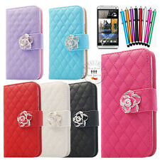 Luxury Wallet ID Card Leather Case Flip Cover Stand For HTC 810e ONE M7 (SCH)