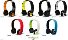 Casque + Micro Campus Eights Bluetooth MIC-BT05 BT03 Jaune, Blanc, Orange, Rouge