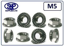 M5 - 5MM STAINLESS STEEL HEXAGON FLANGE NUT GRADE 304 A2