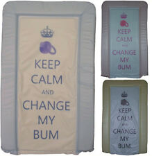 Keep Calm Changing Mats - Soft Touch PVC - Padded Large changing Mats