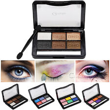 6 Color Makeup Eyeshadow Palette Eye Shadow Powder Make Up Tool Gliiter Cosmetic
