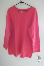Women's Crew Neck Long Sleeve T-Shirt Tee in Watermelon Pink