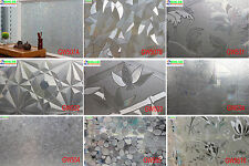 """Clear A pattern privacy decorative glass window film frosted 35"""" 3 ft width"""