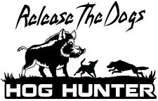 Hog Hunting Decal,hog hunter,hog dogging,boar hunter,feral pig,bay,catch dog