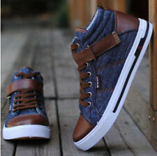 Hot sale 2014 New British Fashion Men's Cowboy Canvas Casual Skateboard Shoes 03