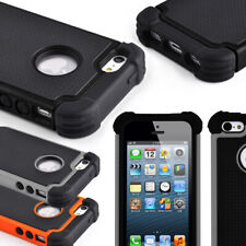 Protective Heavy Duty Case For Apple iPhone 5 5S Thick Silicone Hard Cover