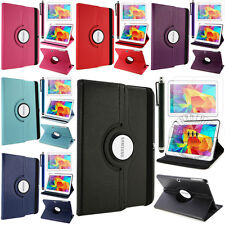 "360 Rotating Luxury Leather Case Smart Cover For Samsung Galaxy Tab 4 10.1"" T530"