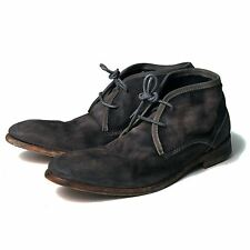 H BY HUDSON BOOTS CRUISE DARK GREY SUEDE MENS CHUKKA BOOT