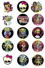 "Monster high Bottle Cap Images , scrapbooking, bows, 1"" circles"