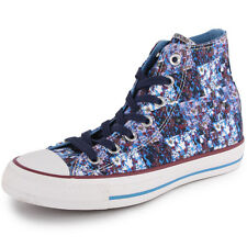 Converse Chuck Taylor Floral Hi Womens Blue Multi Trainers New Shoes All Sizes