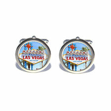 Stag Do Wedding USA America Las Vegas Sign Cufflinks with Personalised Engraved