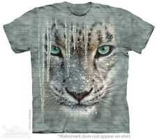 Icicle Snow Leopard T-Shirt by The Mountain. Big Cat Tiger Zoo Animal S-5XL New