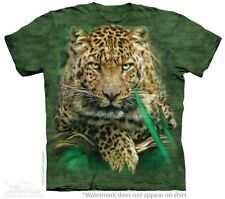 Majestic Leopard T-Shirt by The Mountain. Big Cat Tiger Zoo Animal S-5XL New