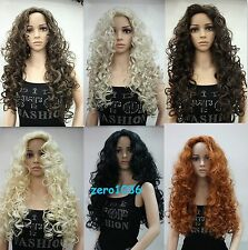 "color select New fashion sexy full wig 28"" long curly synthetic hair women' wigs"