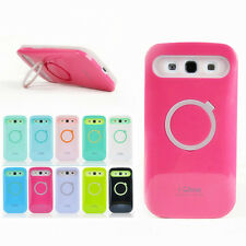 Iglow Dual Color Hybrid Back Stand Case Cover For Samsung Galaxy S3 SIII I9300
